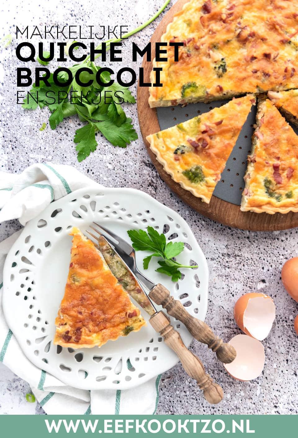 Quiche met broccoli Pinterest collage