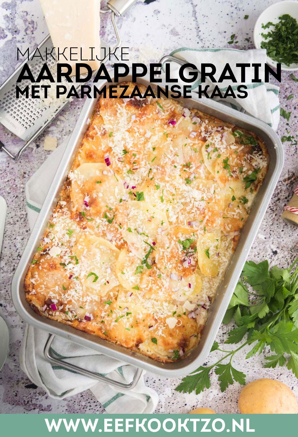 Aardappelgratin met Parmezaanse kaas Pinterest Collage