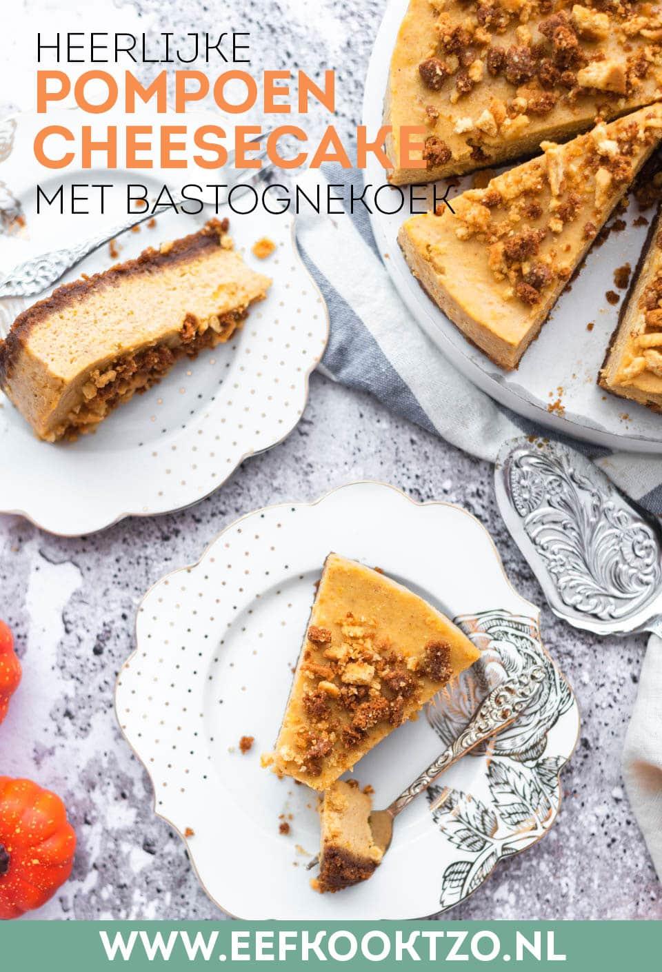 pompoen cheesecake Pinterest Collage