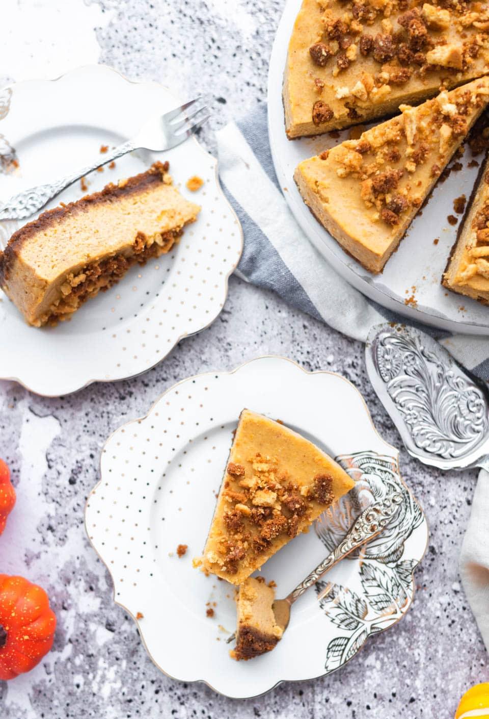 Cheesecake met pompoen