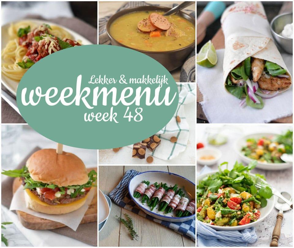 Lekker en makkelijk weekmenu – week 48