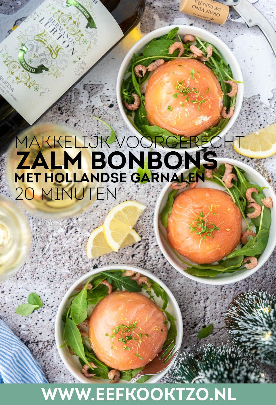 Zalm bonbons Pinterest Collage