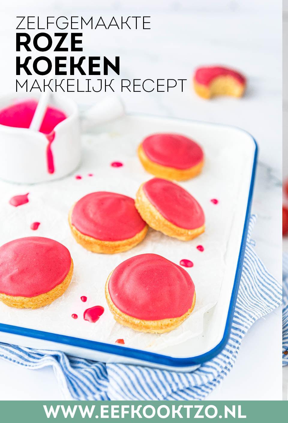 Roze koeken pinterest collage