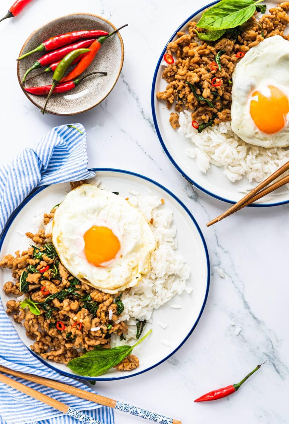Thais wokgerecht met kip