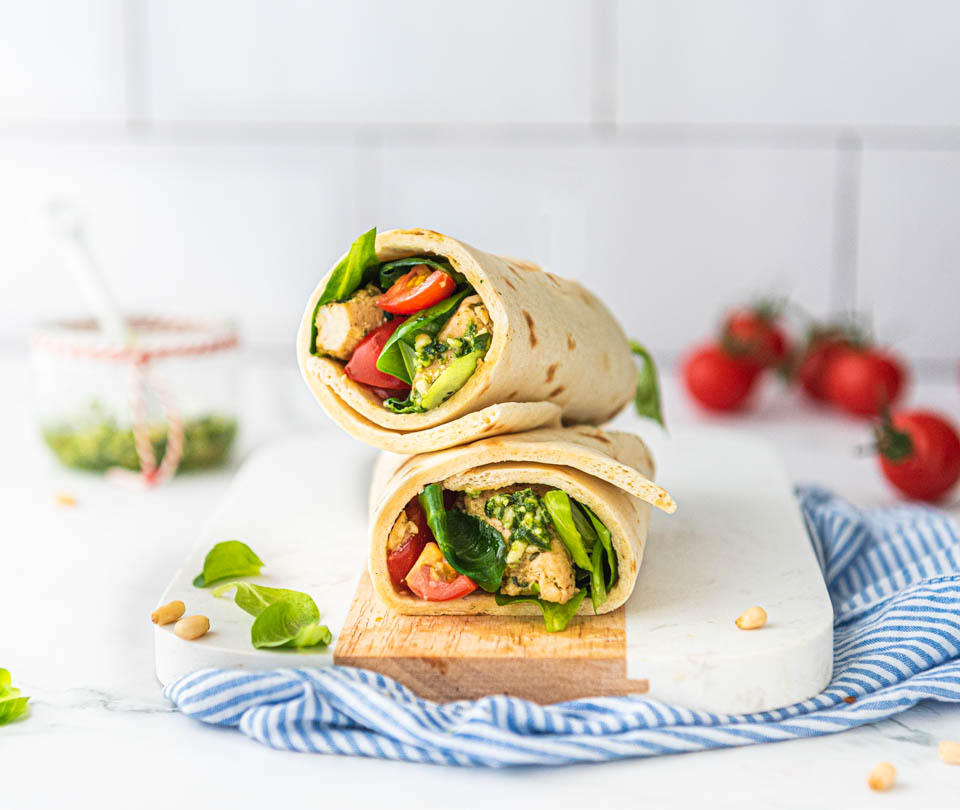 Wraps kip pesto