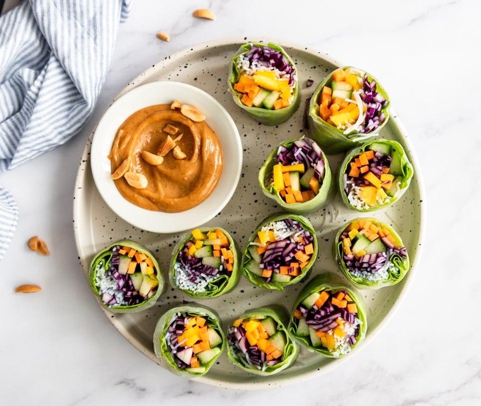 vegan spring rolls recept