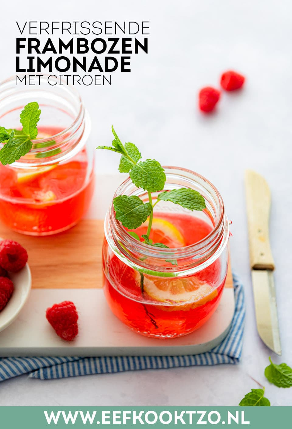 Frambozen limonade Pinterest Collage