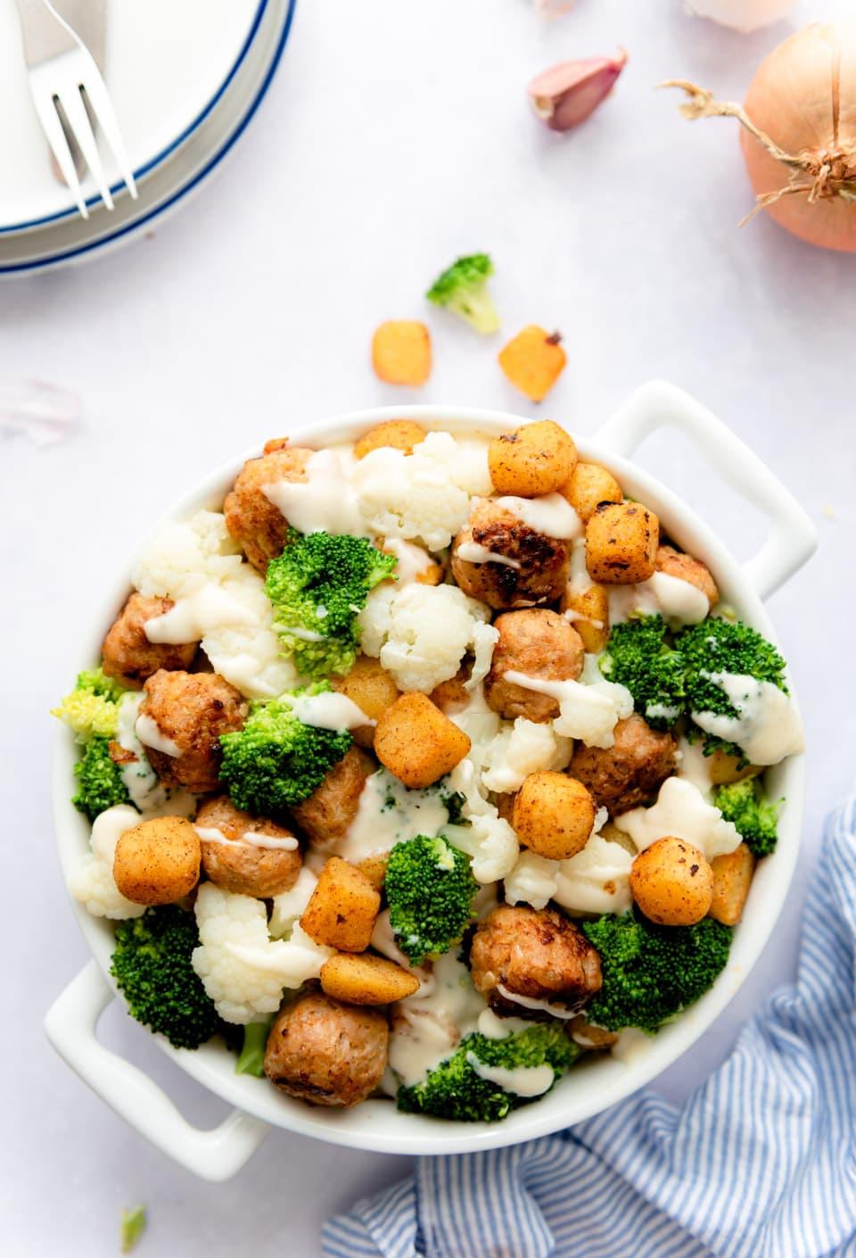 Ovenschotel met krieltjes en groenten