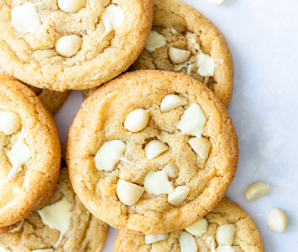 Witte chocolade macadamia koekjes