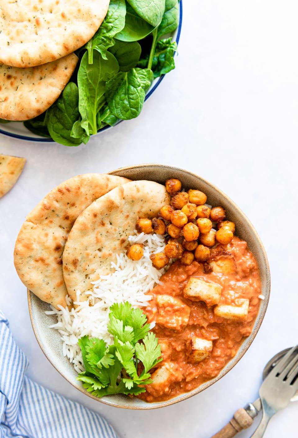Snelle Indiase curry met paneer