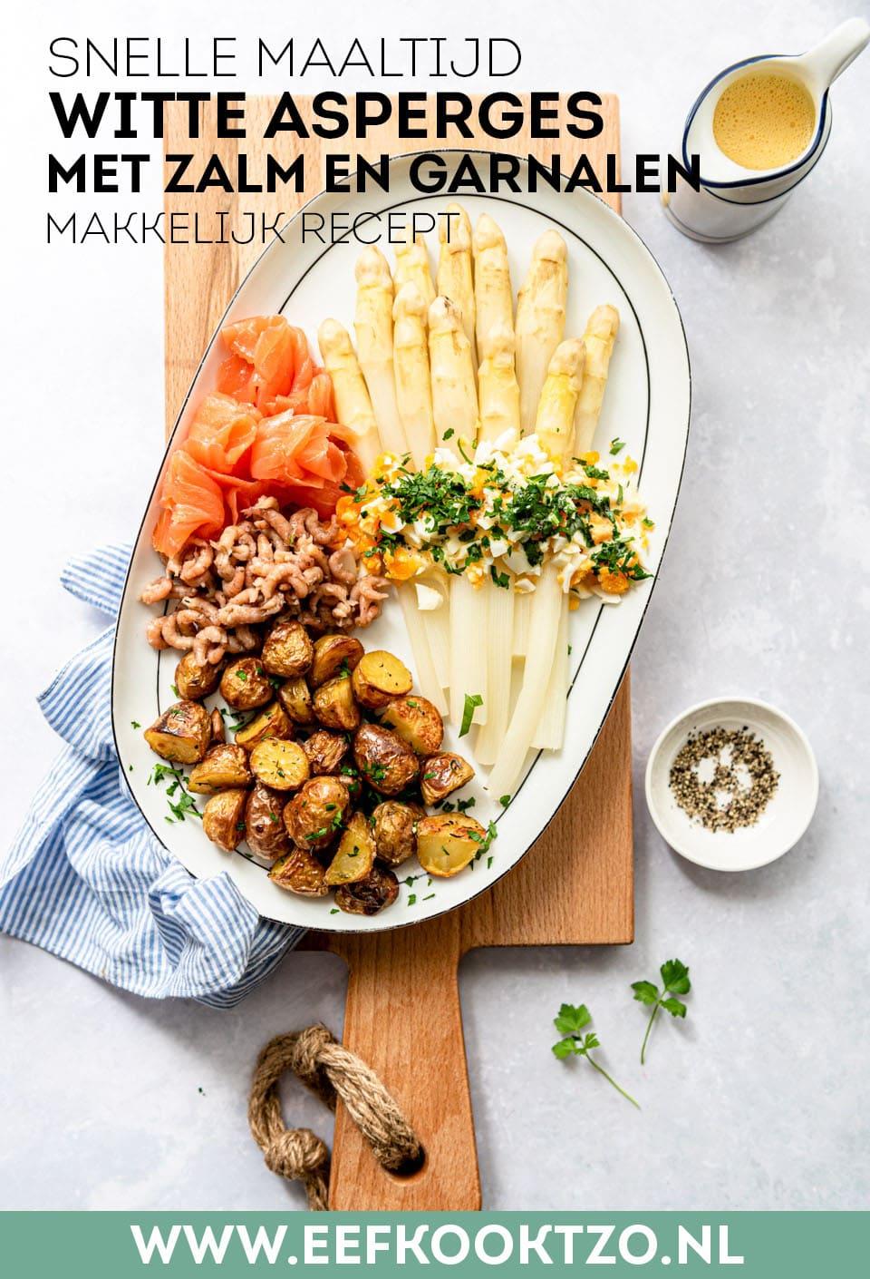 Witte asperges met zalm Pinterest Collage