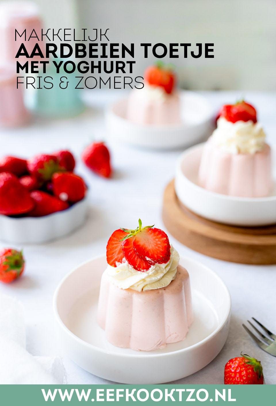 Aardbeien toetje Pinterest Collage