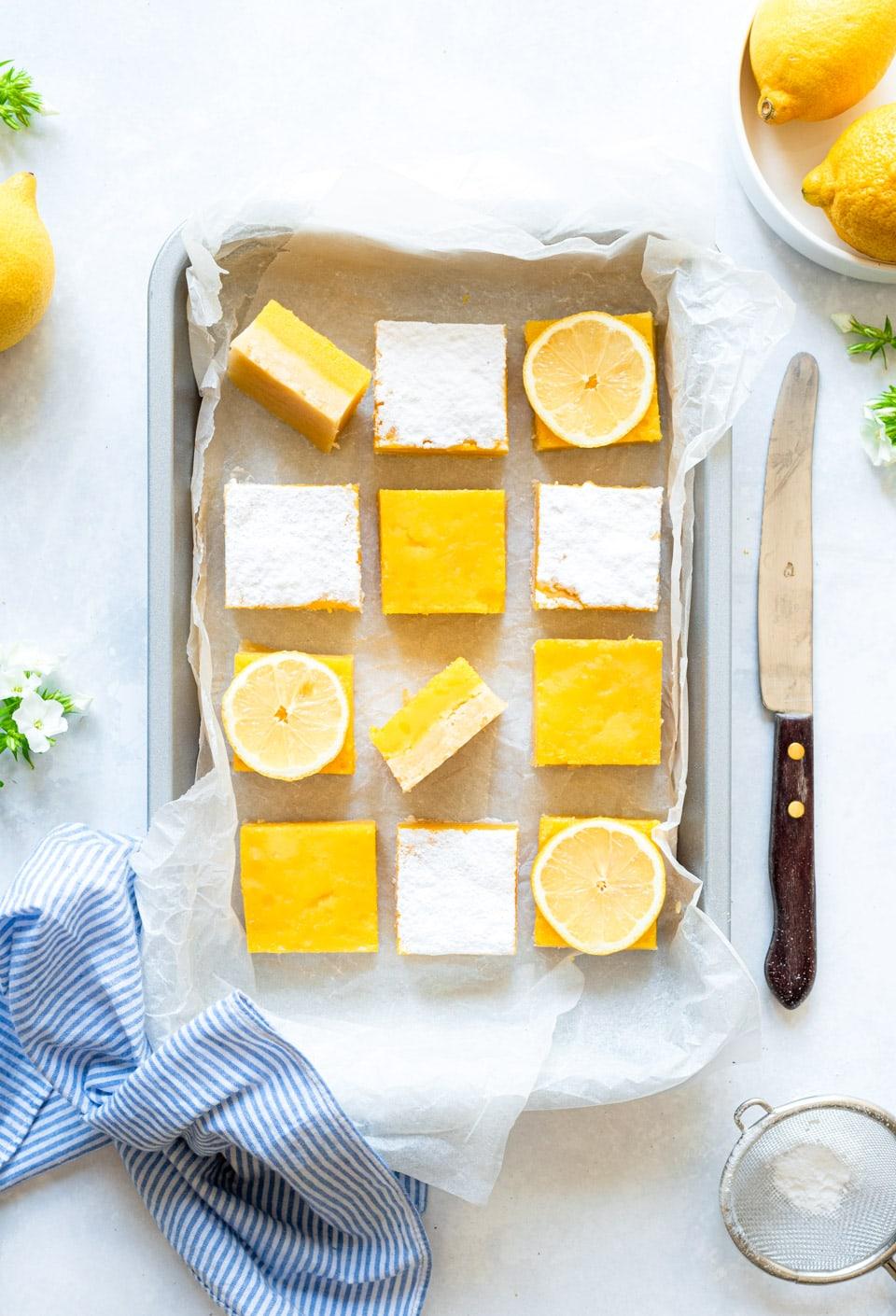 Lemon bars recept