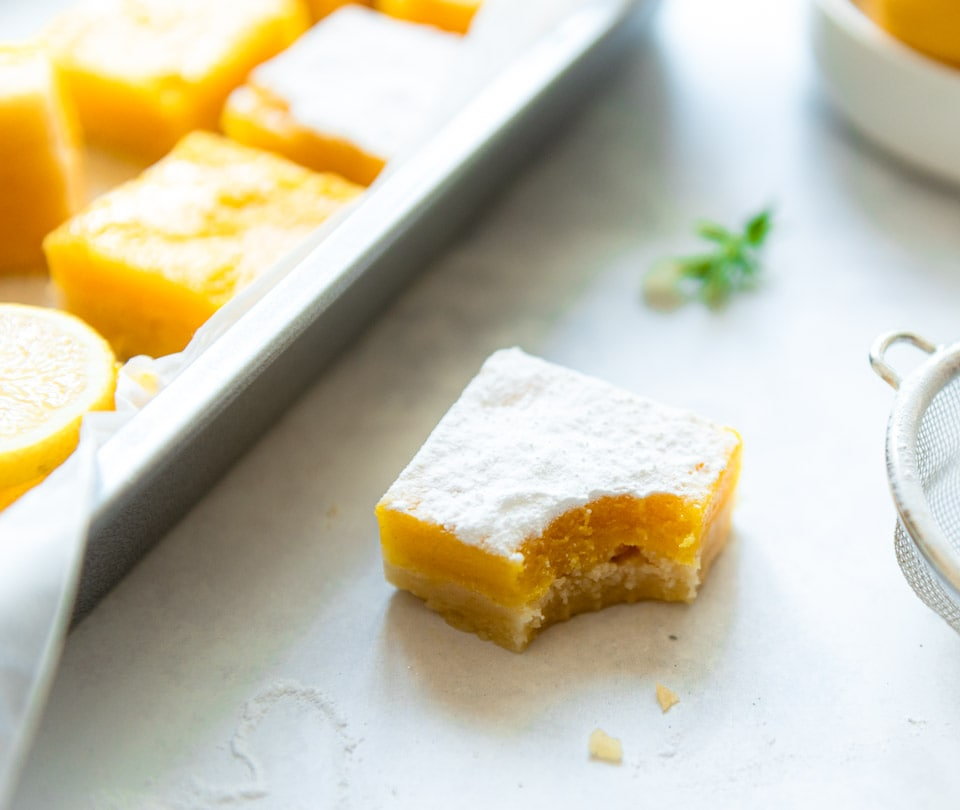 Lemon bars zelf maken