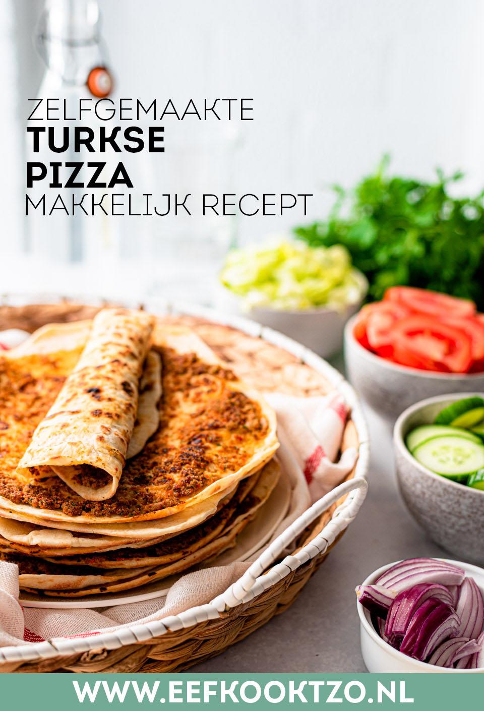 Zelf Turkse pizza maken Pinterest Collage