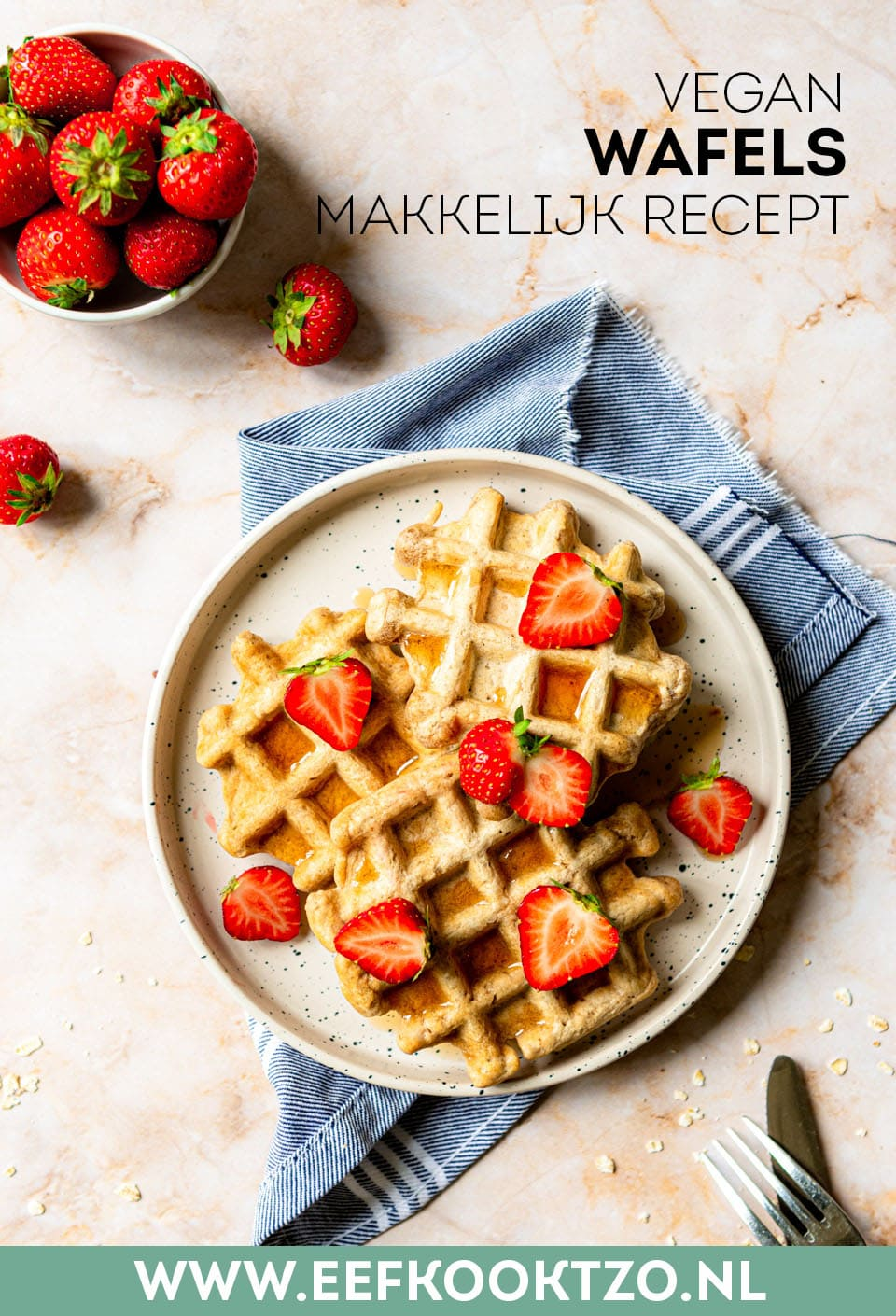 Vegan wafels Pinterest Collage