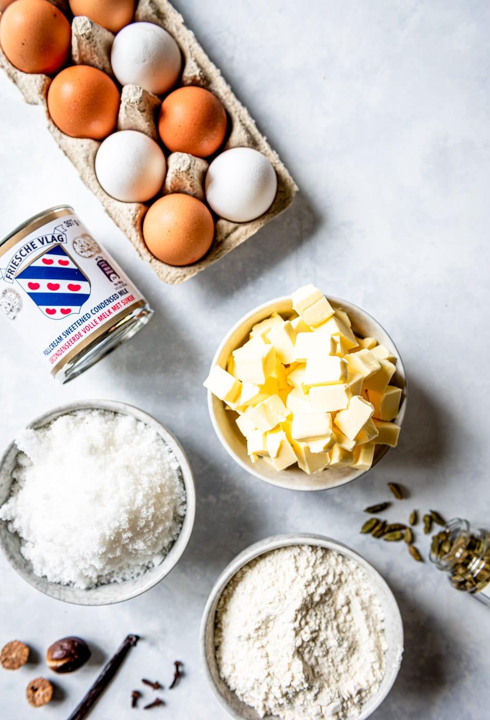 Ingredienten spekkoek