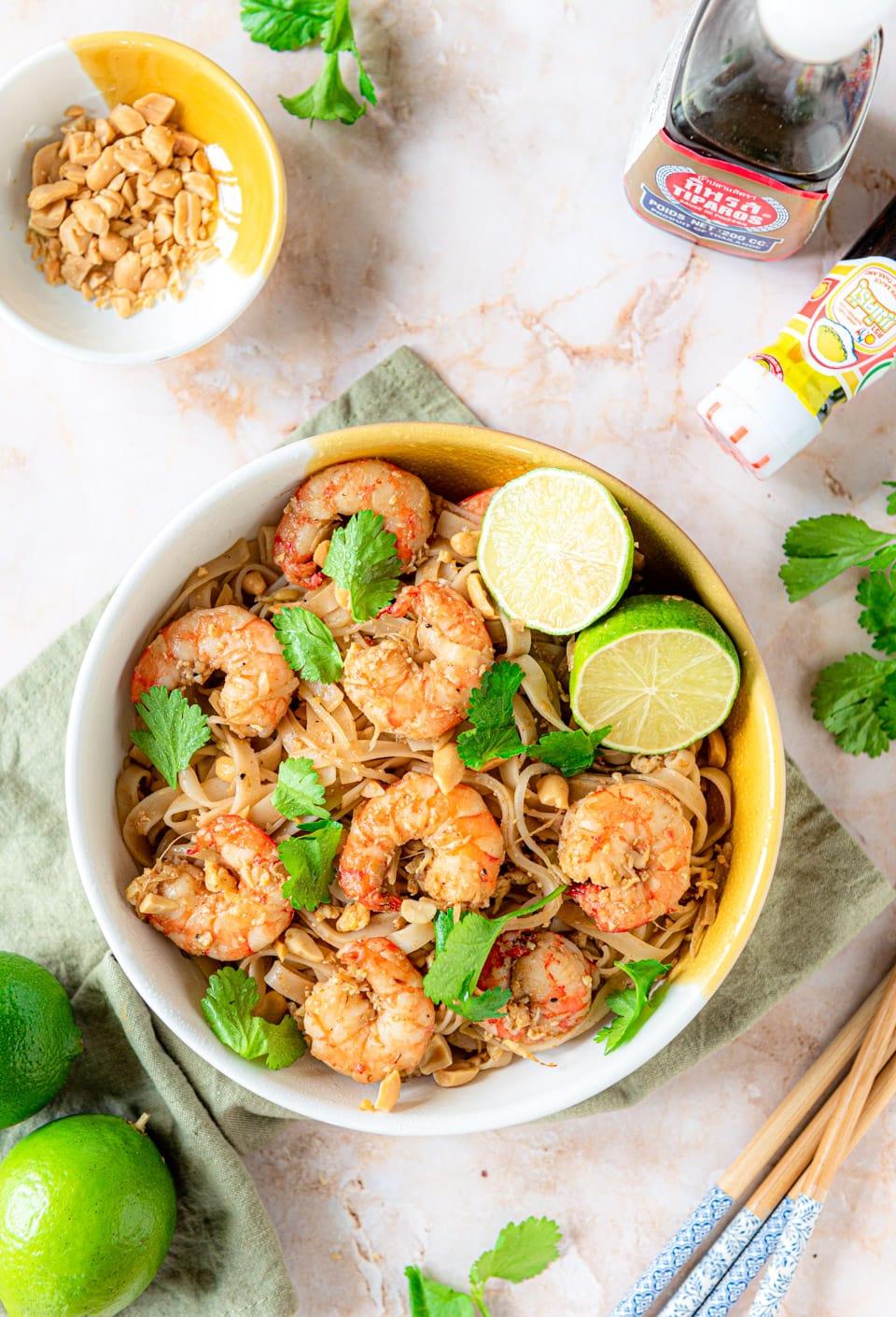 Pad Thai met garnalen recept