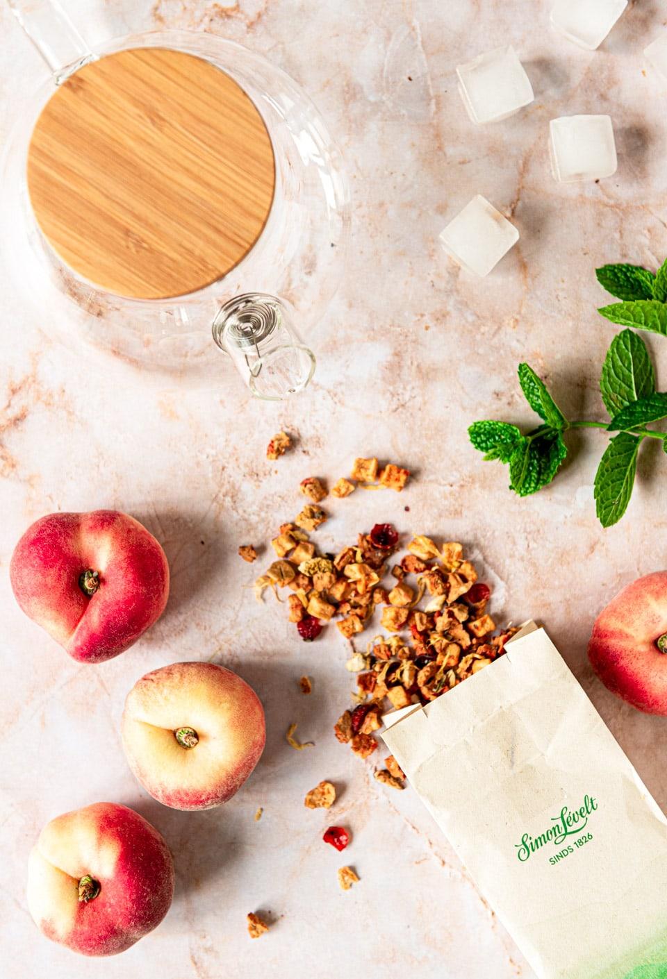 Perzik ijsthee ingredienten