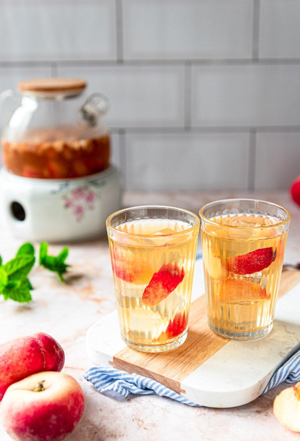 Perzik ijsthee recept