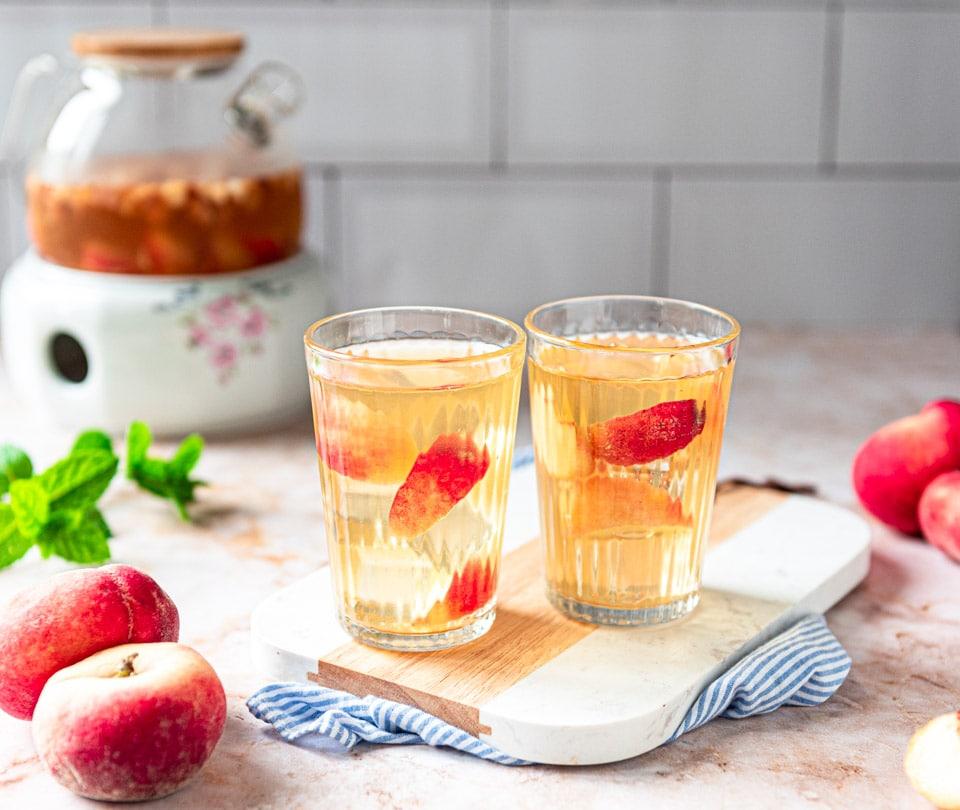 Perzik ijsthee zelf maken