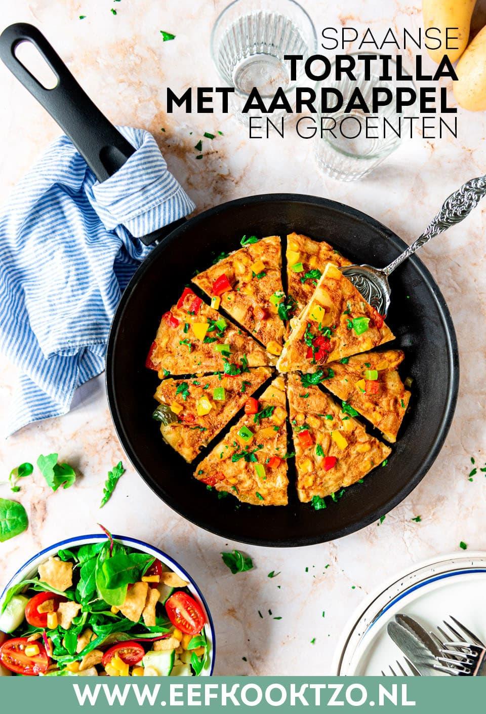Spaanse tortilla met aardappel Pinterest Collage