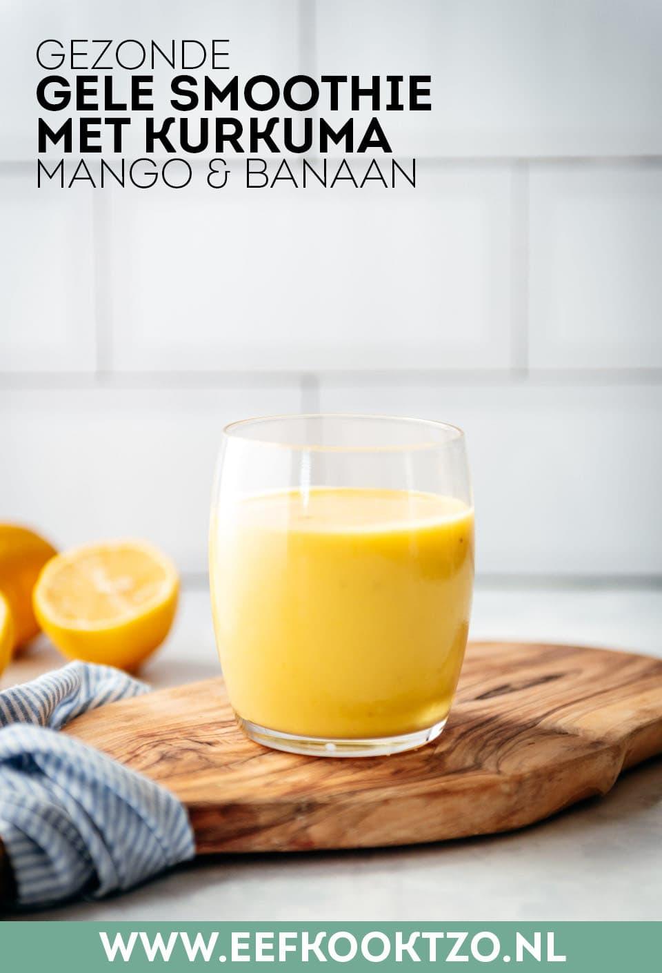 Gele smoothie Pinterest Collage