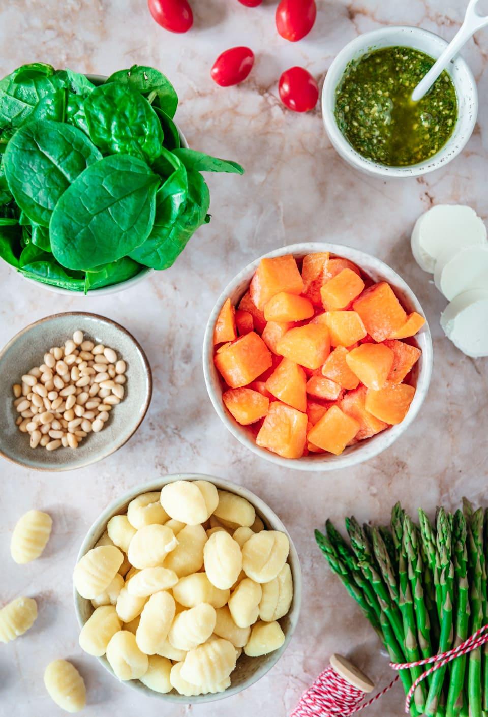 Ingredienten Gebakken Gnocchi met pompoen en geitenkaas