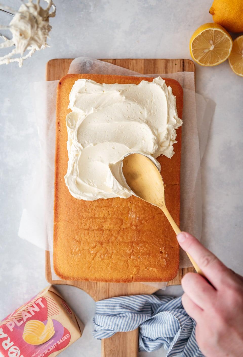 Vegan botercreme smeren