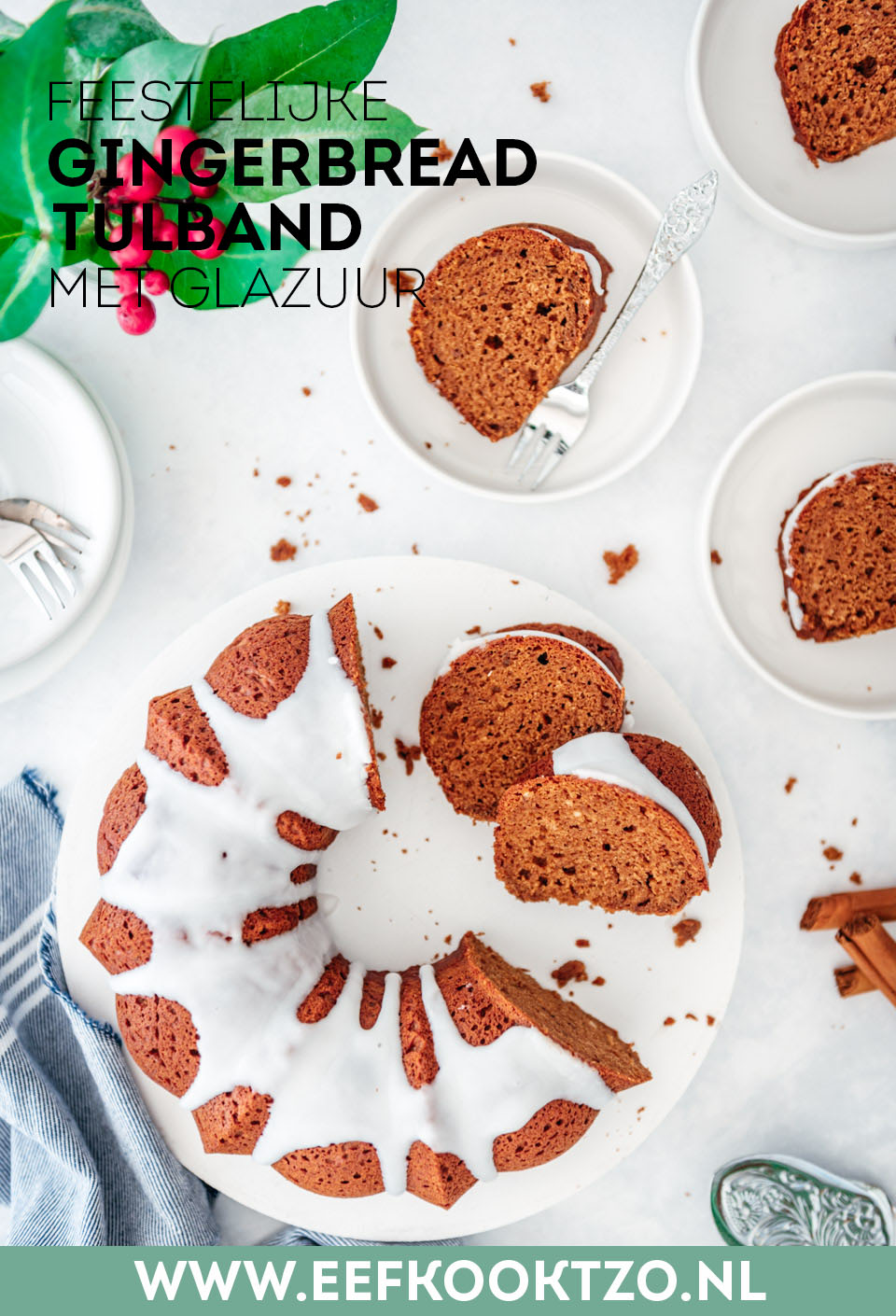 Gingerbread tulband Pinterest Collage
