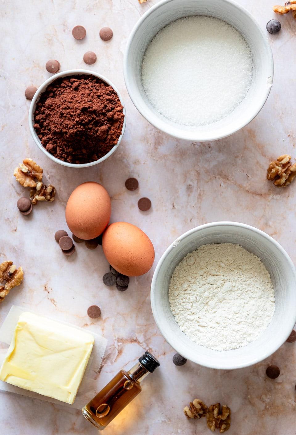 Ingredienten brownies