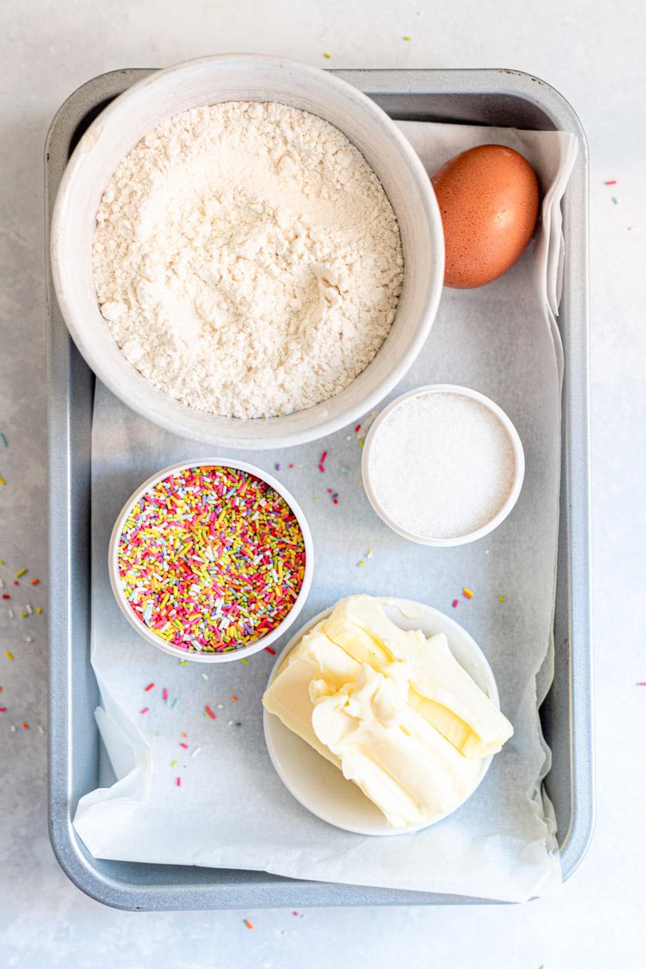 Ingredienten confetti koekjes