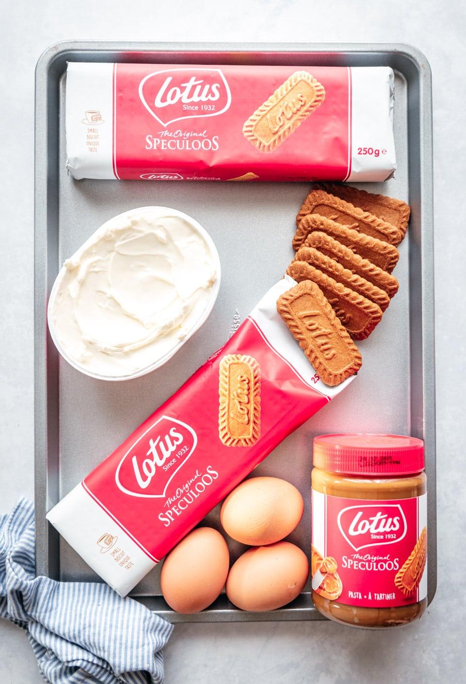 Ingredienten speculoos cheesecake