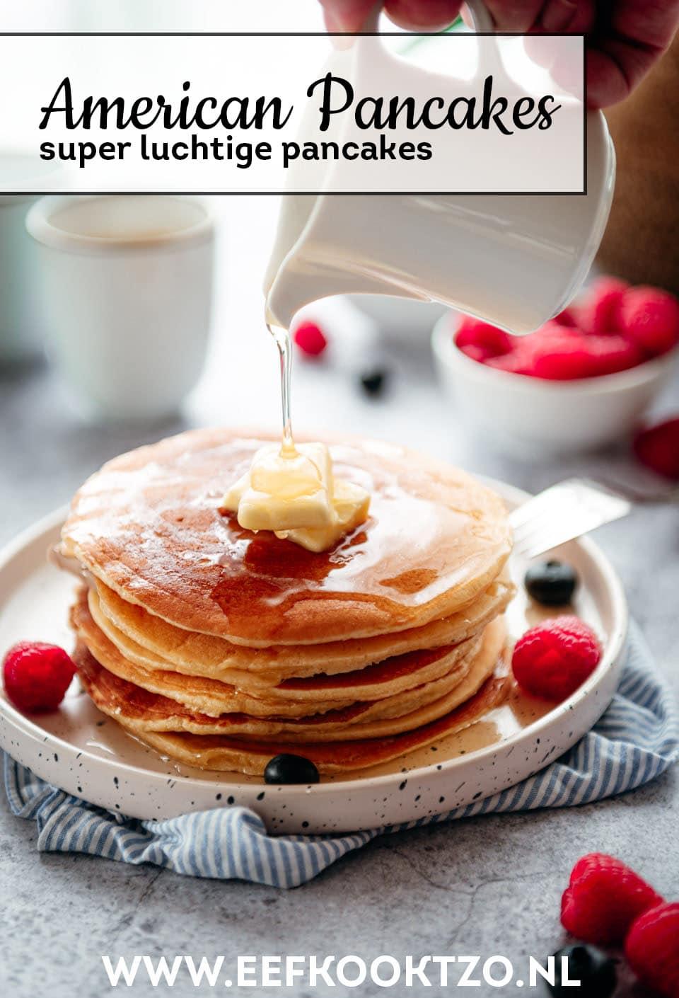 American pancakes Pinterest Collage