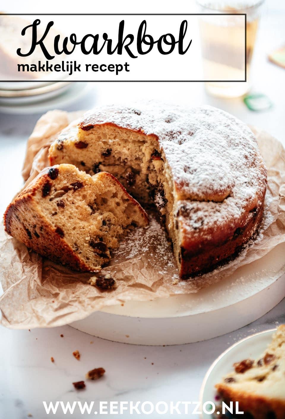 Kwarkbol recept Pinterest Collage