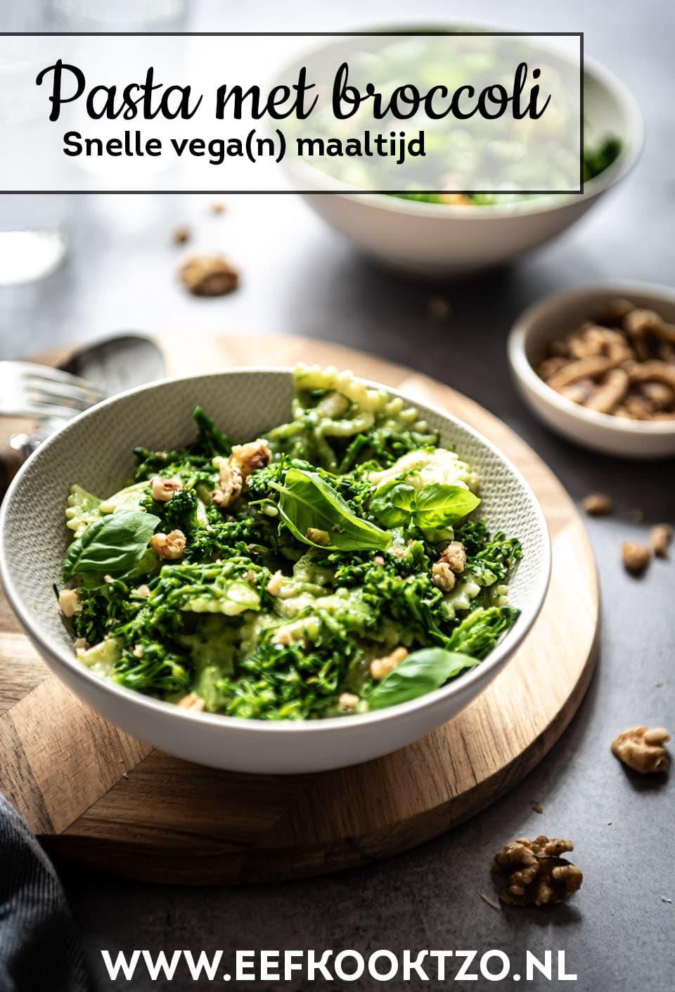 Pasta met broccoli Pinterest Collage