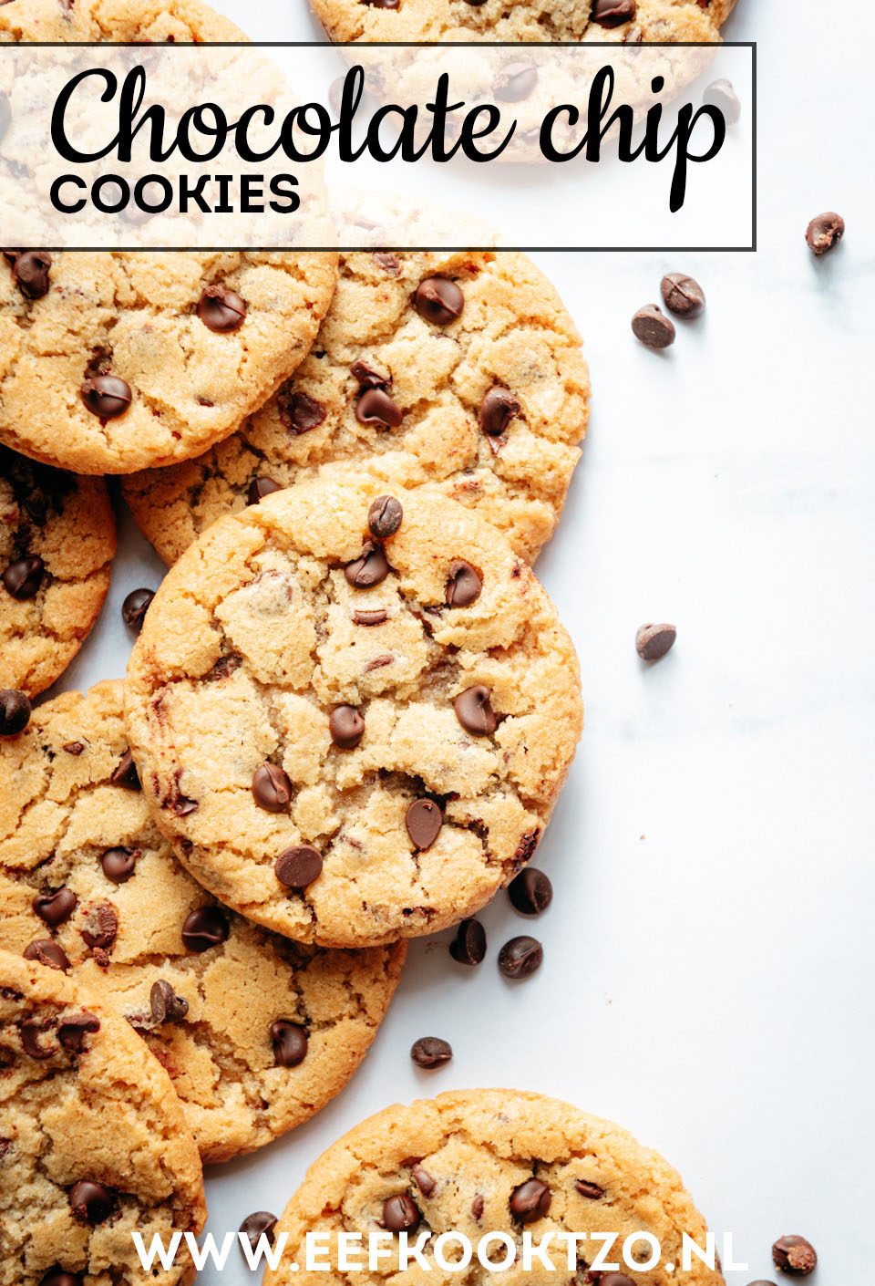 American chocolate chip cookies Pinterest Collage