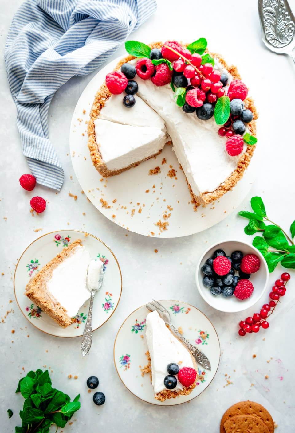 Cheesecake met roomkaas