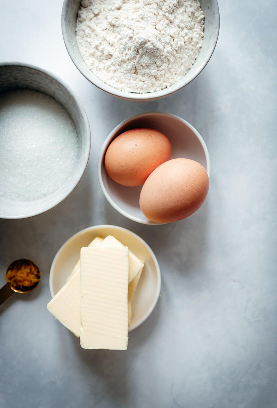 Ingredienten madeleines