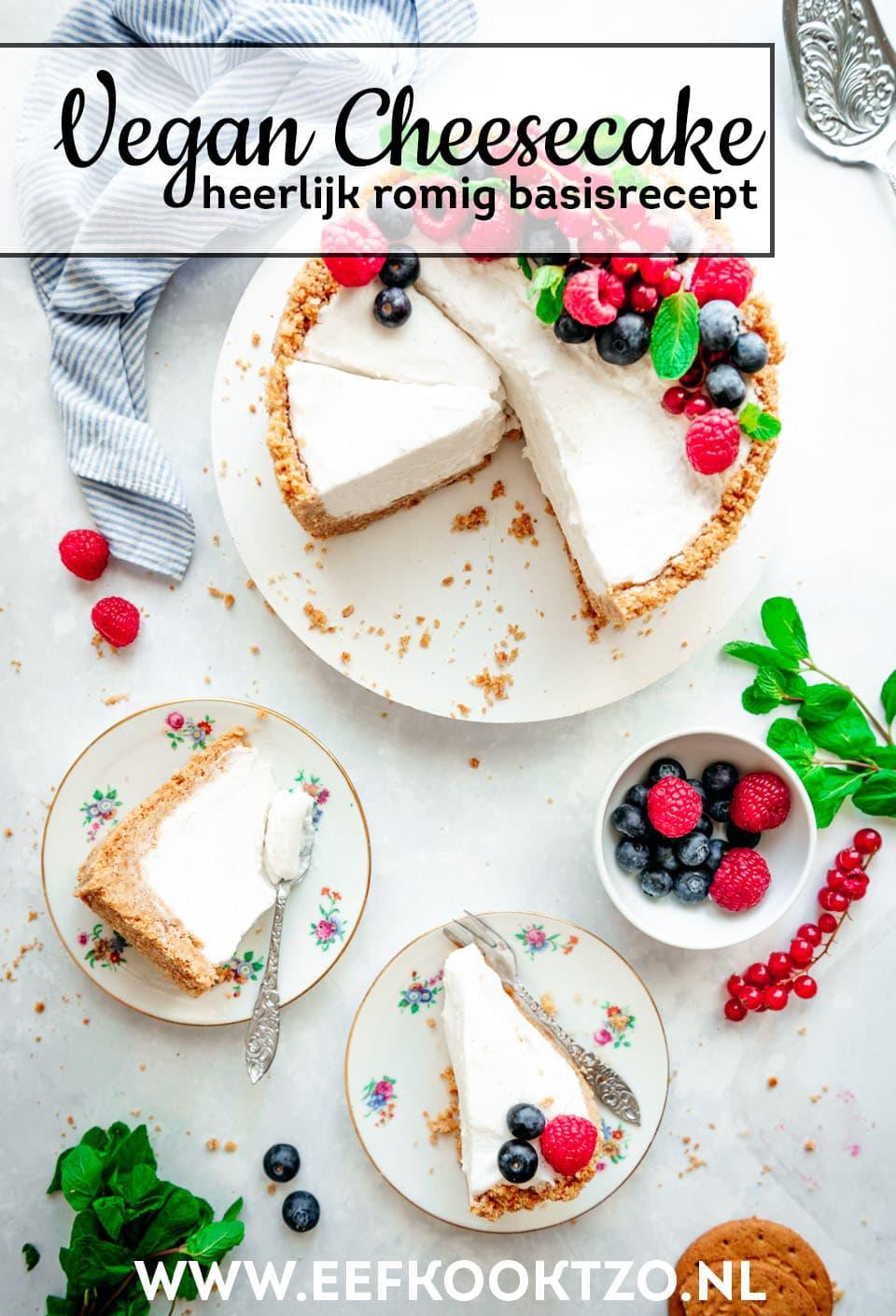 Vegan cheesecake Pinterest Collage