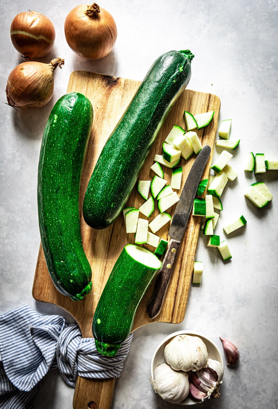 Ingredienten courgettesoep