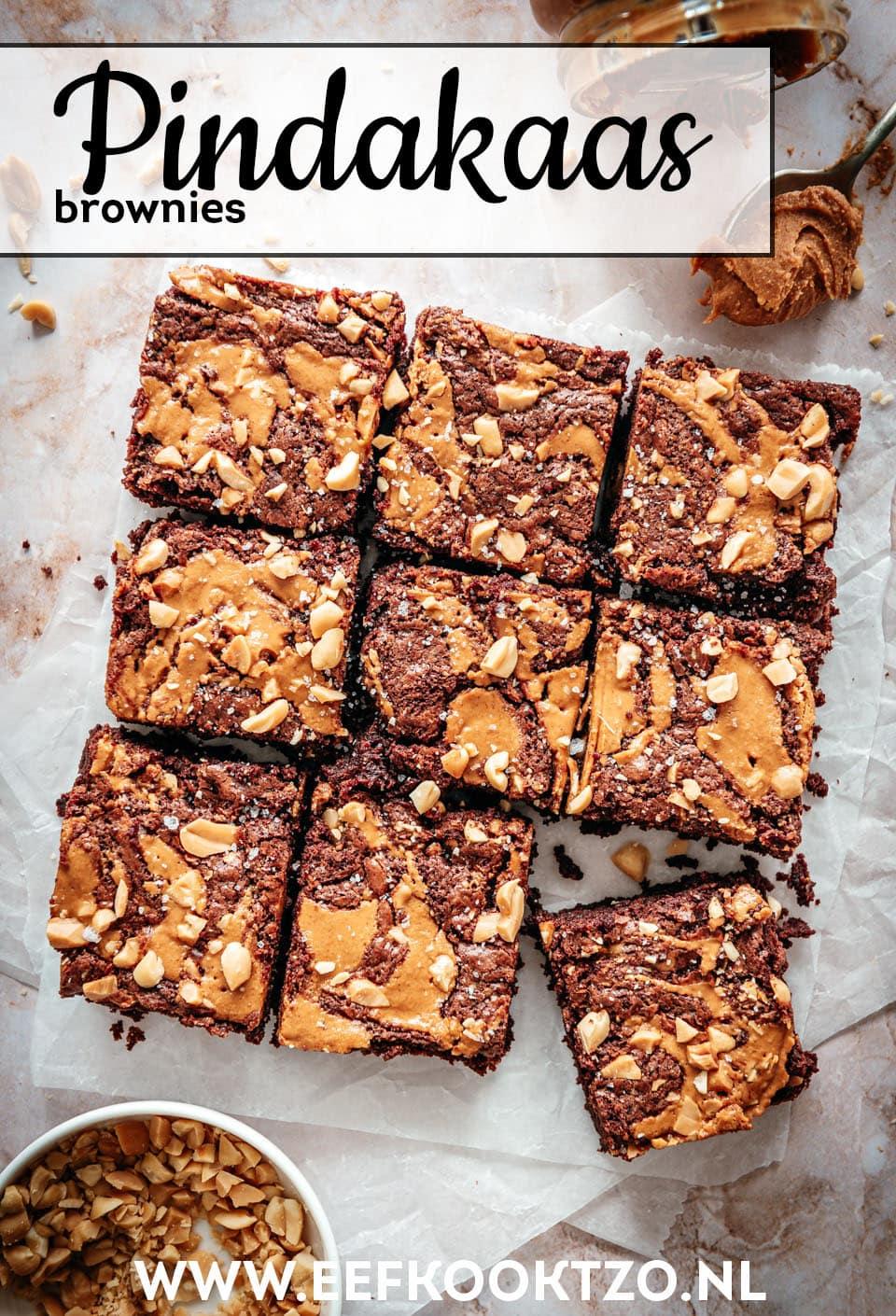 Pindakaas brownies Pinterest Collage