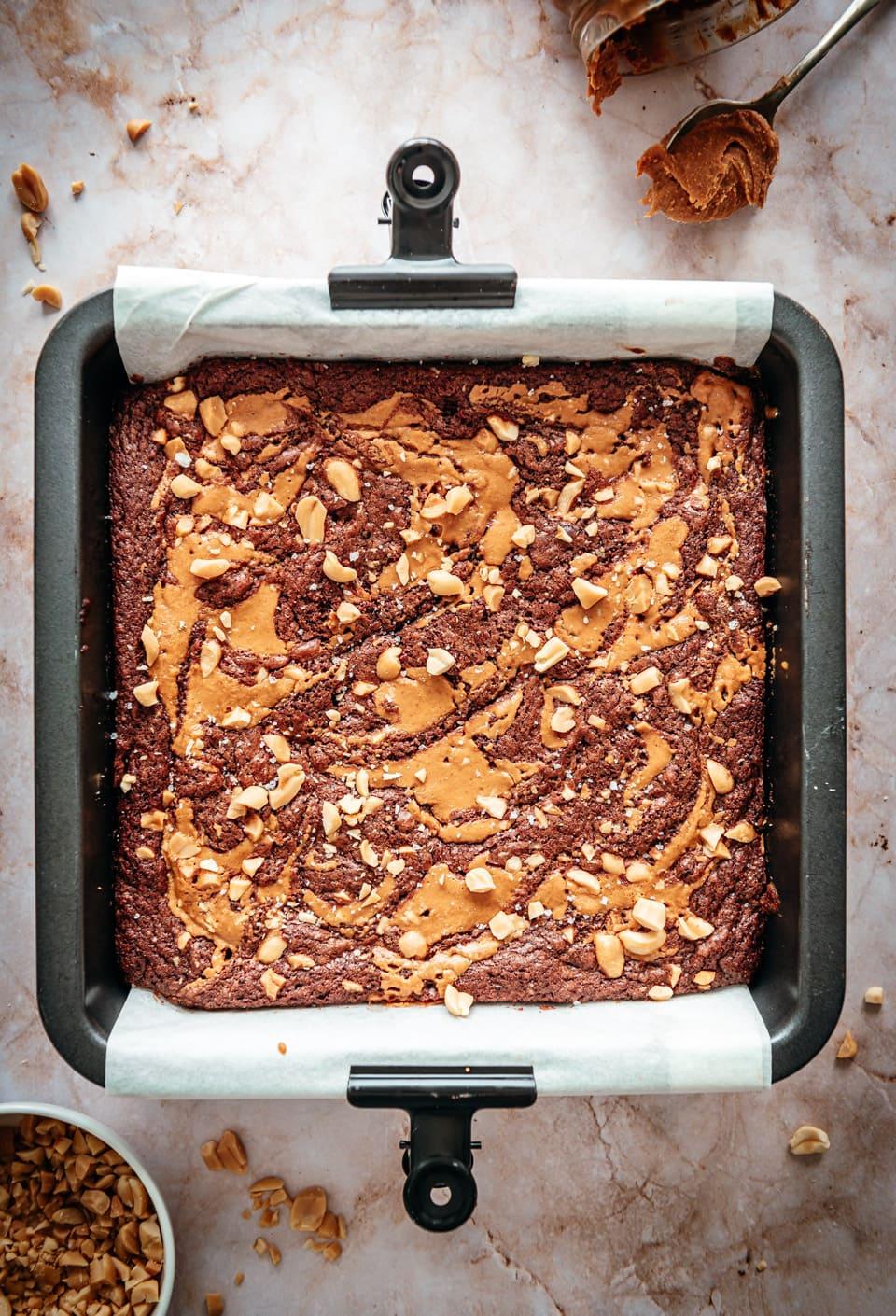 Pindakaas brownies recept