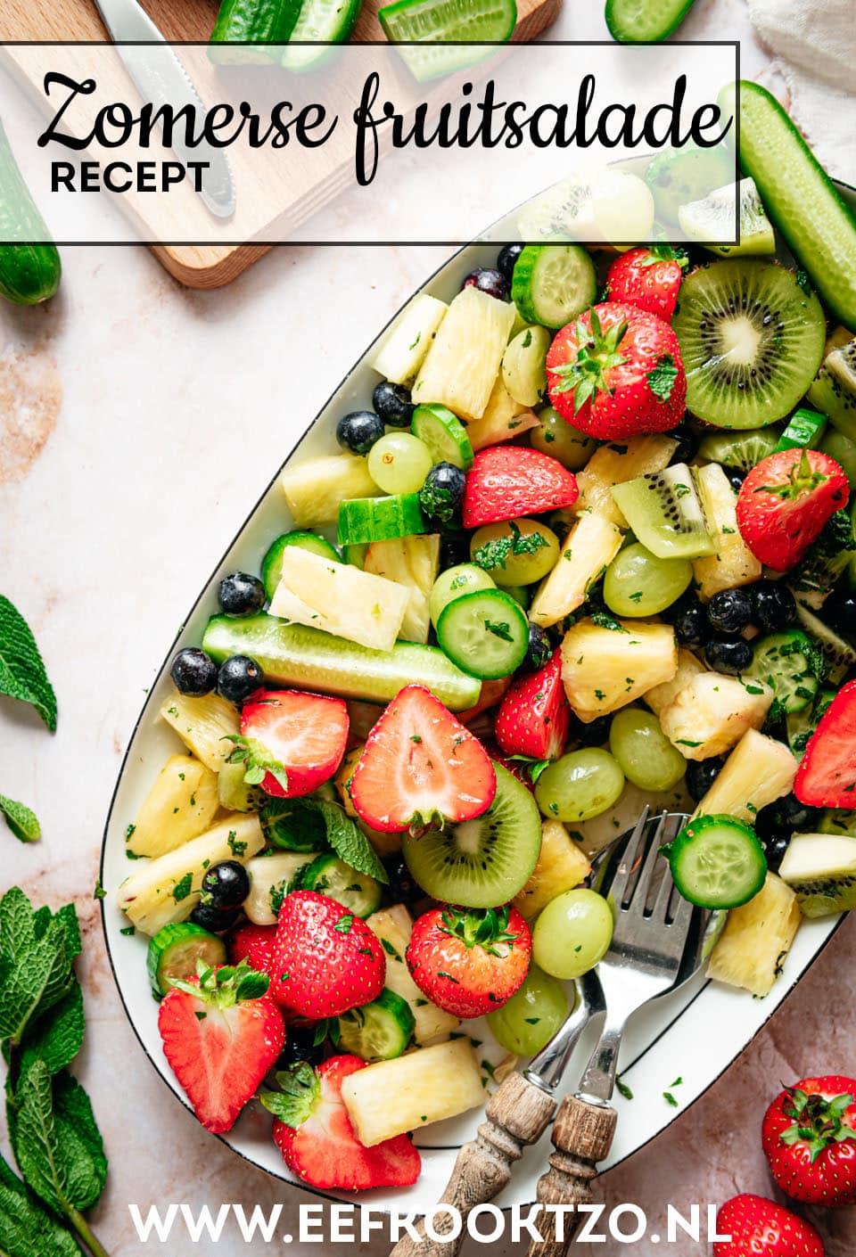 Fruitsalade Pinterest Collage
