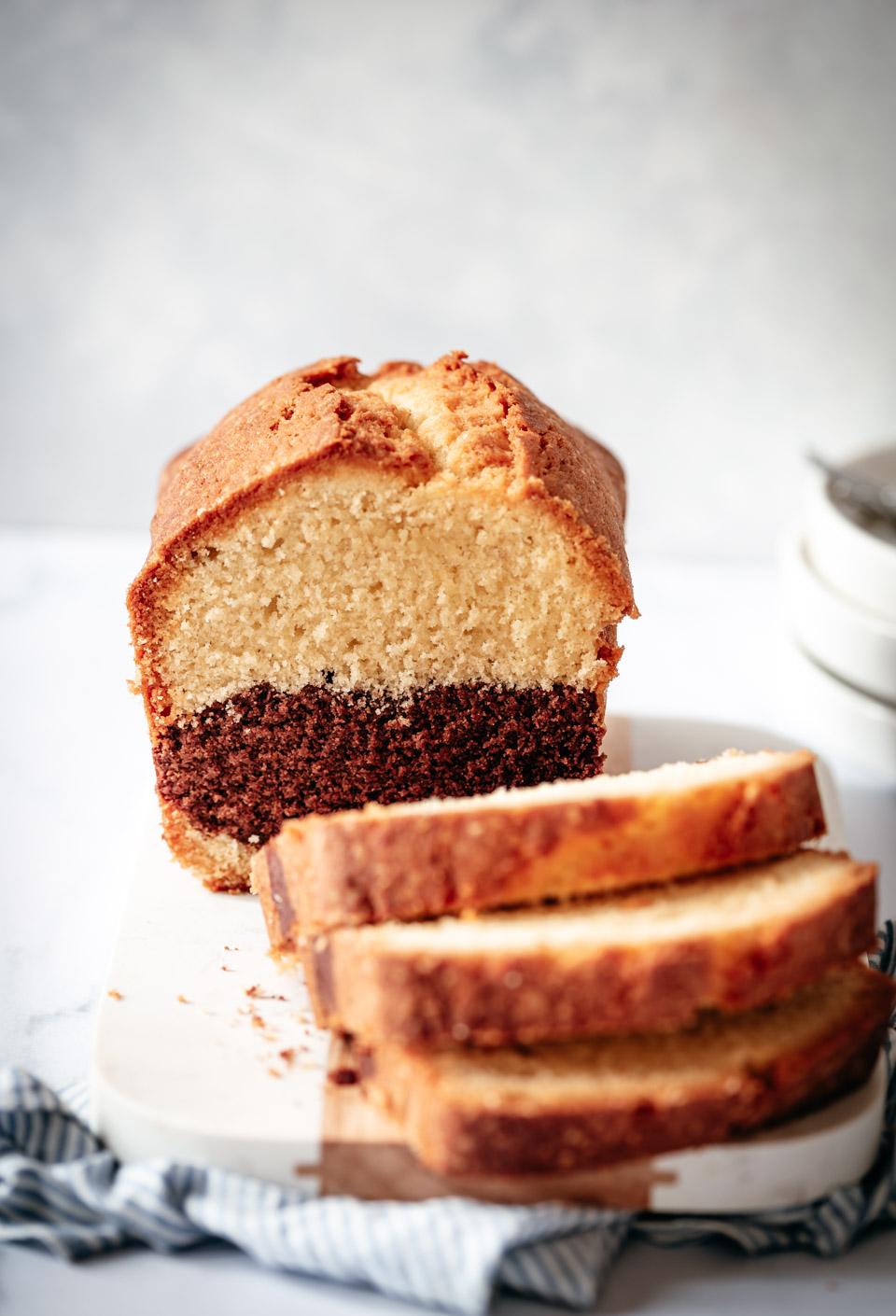 Makkelijke cake met vanille en chocolade