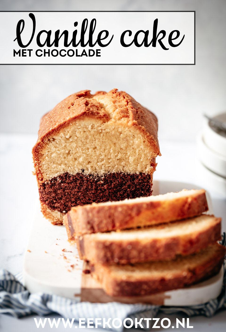 Vanille cake met chocolade Pinterest Collage