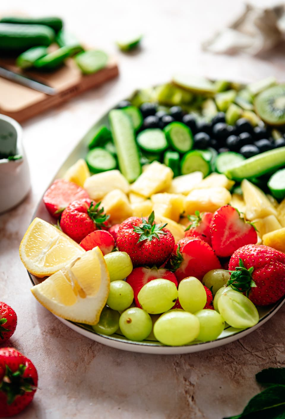 Zelf een fruitsalade maken