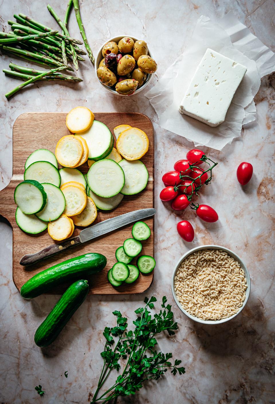 Ingredienten orzo salade