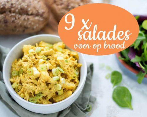 9 x salade voor op brood