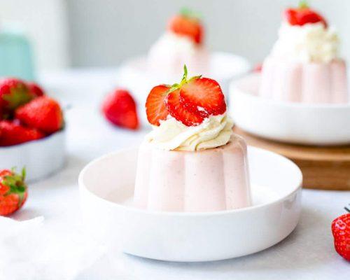 Aardbeien toetje met Griekse yoghurt